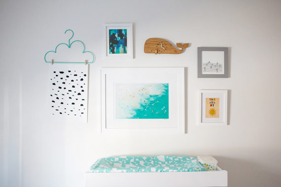 Modern nautical nursery by Ampersand Design | 100 Layer Cakelet