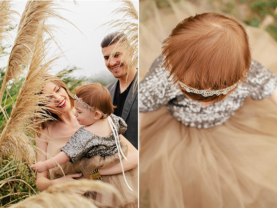 Sequin and tulle family photos by D. Lillian Photography | 100 Layer Cakelet