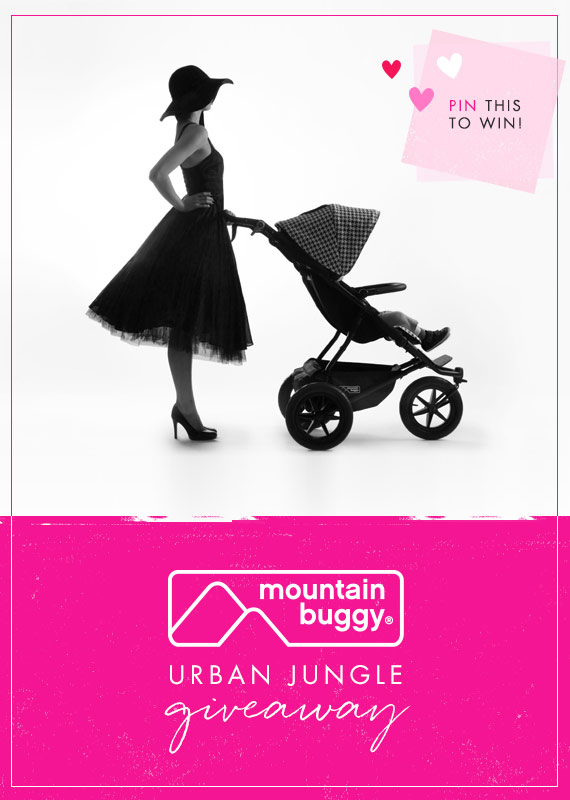 Pin this graphic to enter the Mountain Buggy Urban Jungle luxury stroller giveaway on 100layercakelet.com