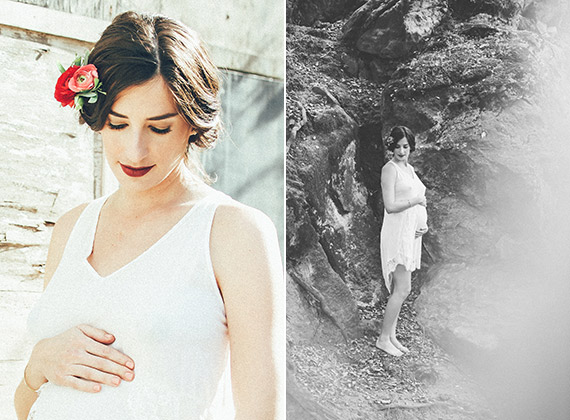 Boudoir maternity photos by Cargo Creative and Hailley Howard Photography | 100 Layer Cakelet