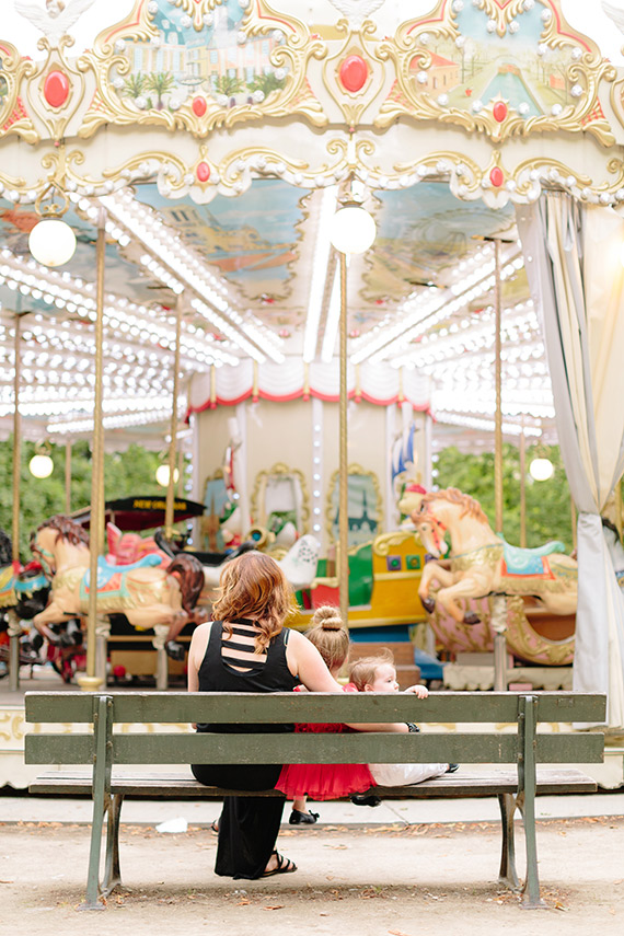 Paris Carousel family photos by French Grey Photography | 100 Layer Cakelet