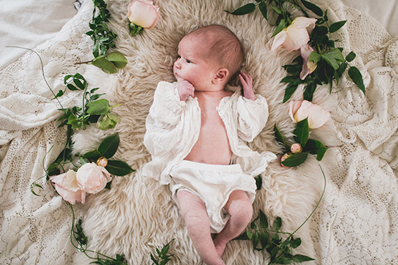 Newborn photos from Siren Floral Co and Studio Castillero | 100 Layer Cakelet