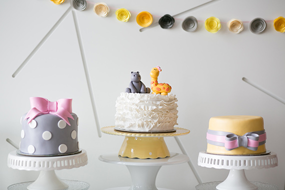 Yellow and grey baby shower by Wu La La Events and Lucy Chang Photography   100 Layer Cakelet
