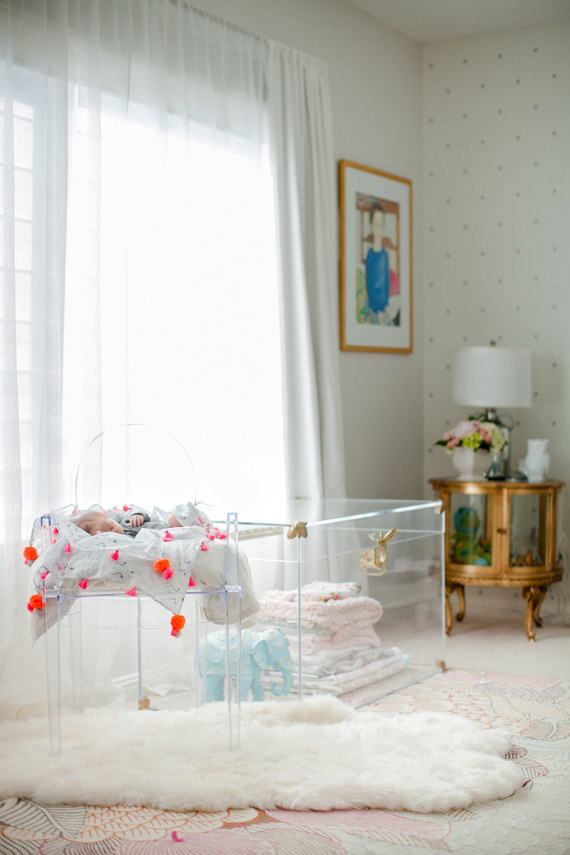 Fairytale nursery and newborn photos by Courtney de Jauregui of Erin Hearts Court | 100 Layer Cakelet