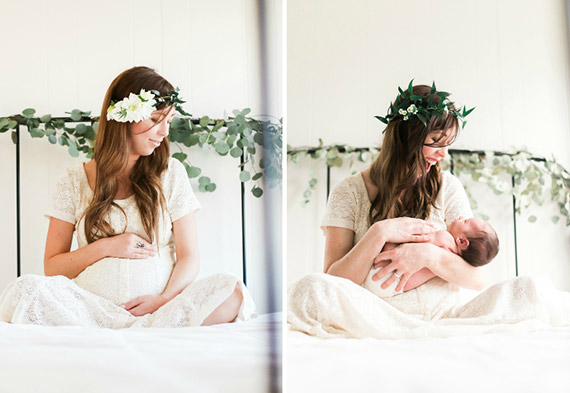 Before and after maternity and newborn photos by Elate Photo | 100 Layer Cakelet