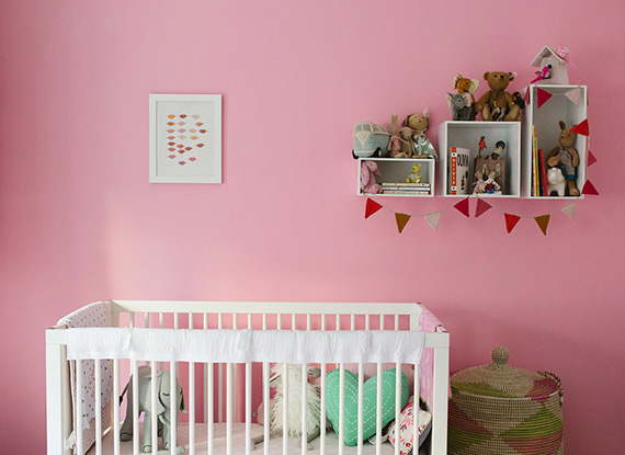 Brooklyn girl's nursery by Nicki Sebastian | 100 Layer Cakelet