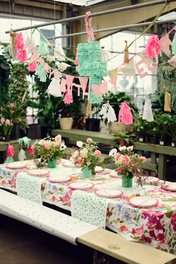 Floral, gardening 4th birthday party by Alea Moore Photography | 100 Layer Cakelet