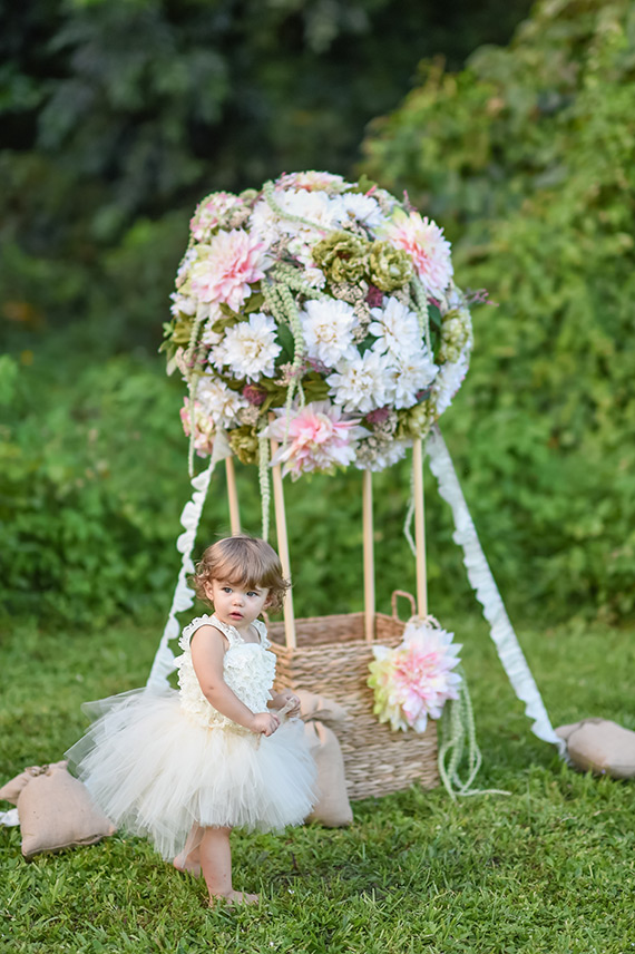 Floral Hot Air Balloon Portraits Family Photography