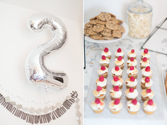 Silver 2nd birthday by Dulcet Creative | 100 Layer Cakelet
