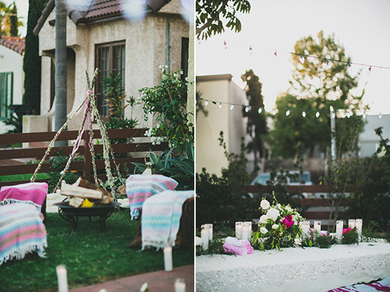 Bohemian evening baby shower by Sitting In A Tree Events | Photos by Studio Castillero | 100 Layer Cakelet