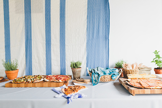 Blue and white Italian Summer first birthday by Bows and Arrows | Photos by Kelly Christine Photo | 100 Layer Cakelet