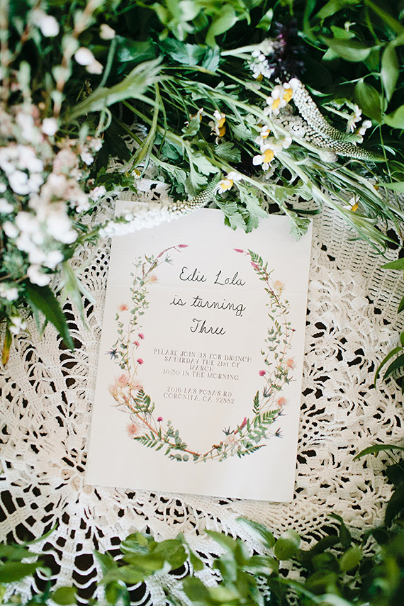 Spring floral bohemian 3rd birthday by Beijos Events | Photos by Megan Welker | 100 Layer Cakelet