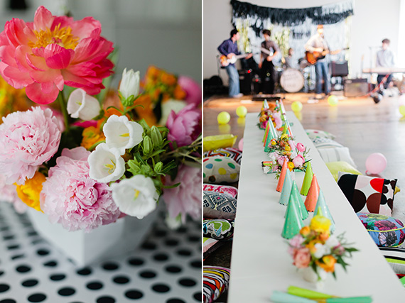 Fab Four Fourth Birthday by Bows and Arrows Flowers | Photos by Kelly Christine Photo | 100 Layer Cakelet