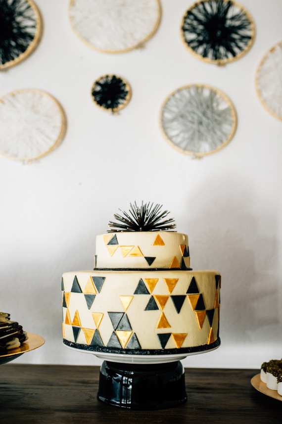 Gold and black first birthday by Ardor Rental Boutique | Photos by April and Paul Photography | 100 Layer Cakelet