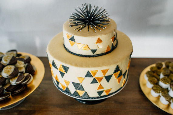Gold and black first birthday by Ardor Rental Boutique   Photos by April and Paul Photography   100 Layer Cakelet