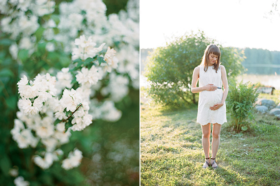 Lakeside early summer maternity photos in Karelia Russia | Ksenia Milushkina Photography | 100 Layer Cakelet