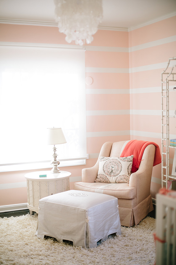 Modern pink girls nursery and newborn photos by Melissa Warner and Heather Kincaid | 100 Layer Cakelet