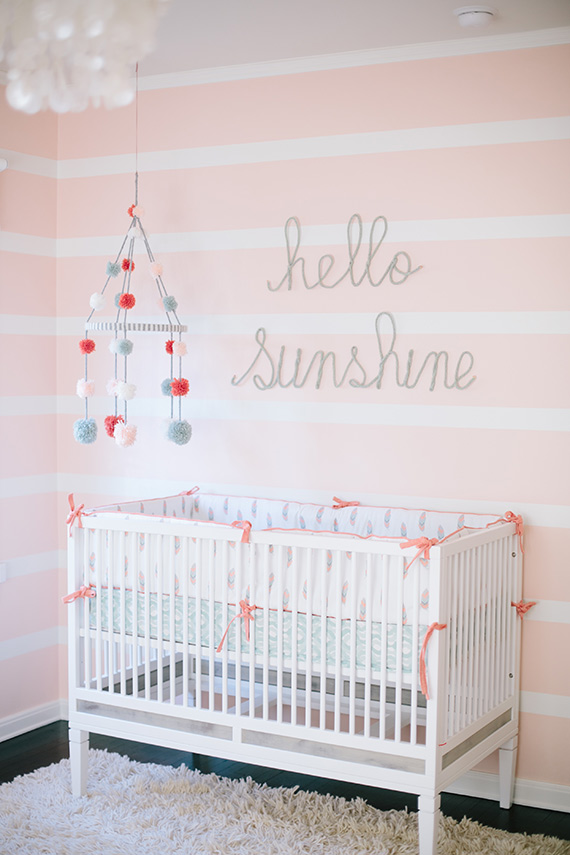 Modern pink girl 39 s nursery and newborn photos by melissa for Modern nursery decor