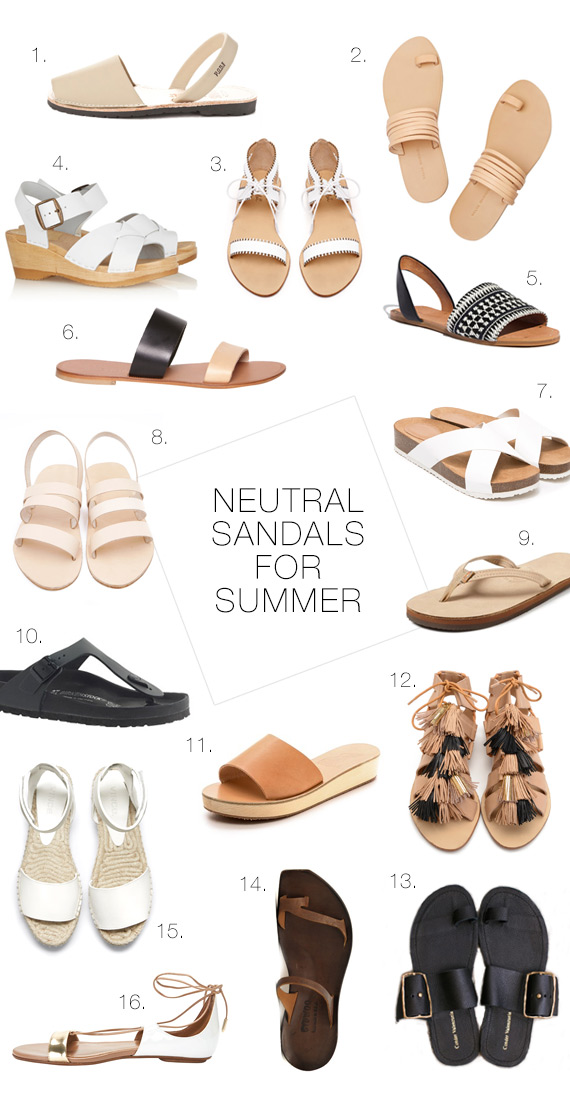 Favorite sandals for summer