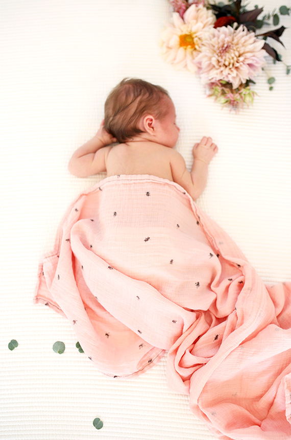 organic bamboo swaddles from buttermilk babies