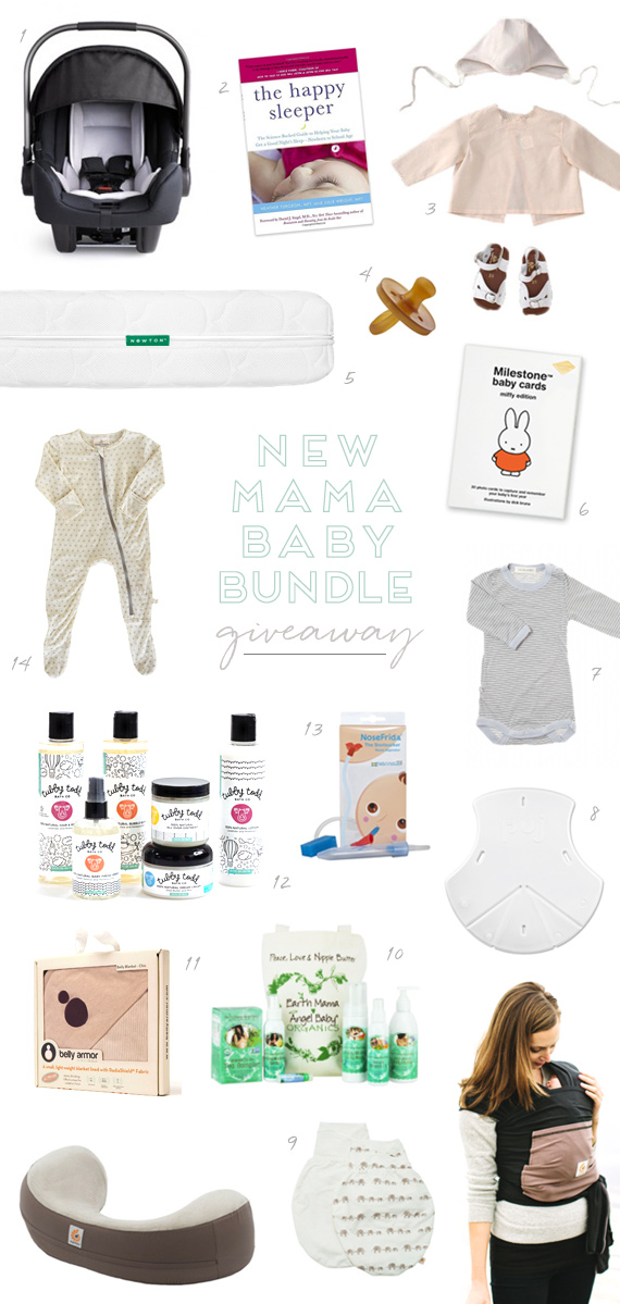 New mama baby bundle giveaway on Cakelet