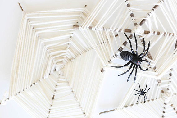 DIY spider web craft for kids