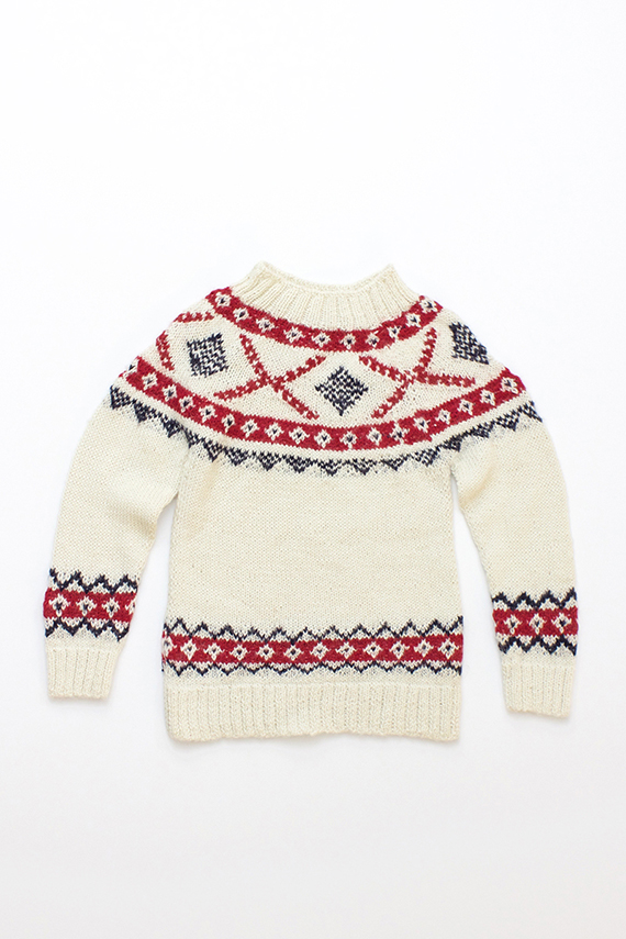 Nordic holiday sweater from Flora + Henri