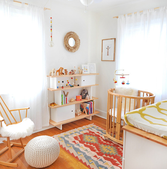 midcentury girls nursery