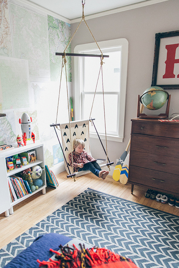 woodsy boy's room and DIY swing