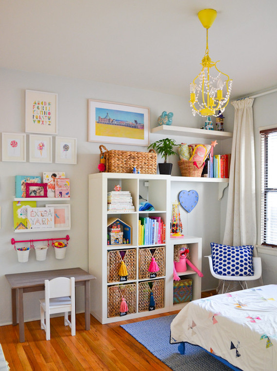 bright, creative girls room