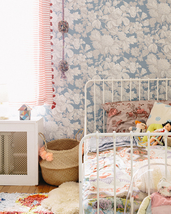 eclectic bohemian shared girls room
