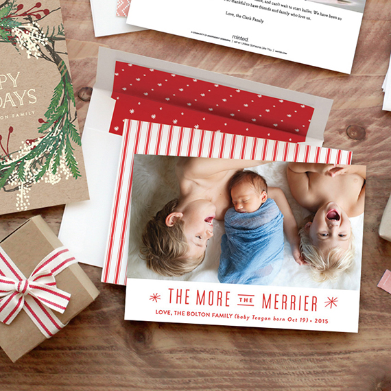 Completely custom holiday cards from Minted