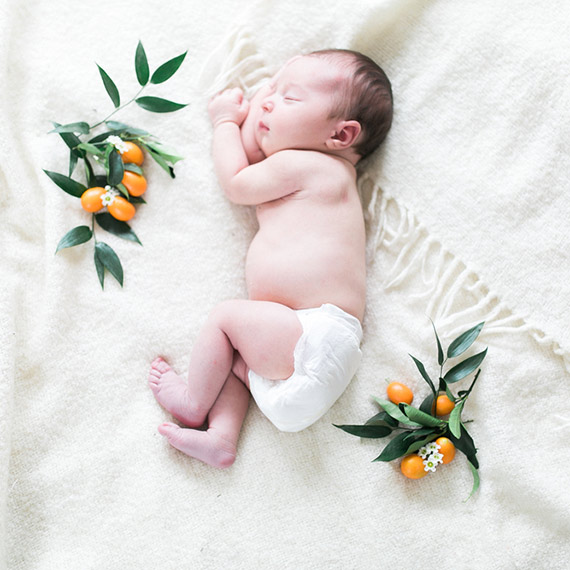 winter styled newborn photos