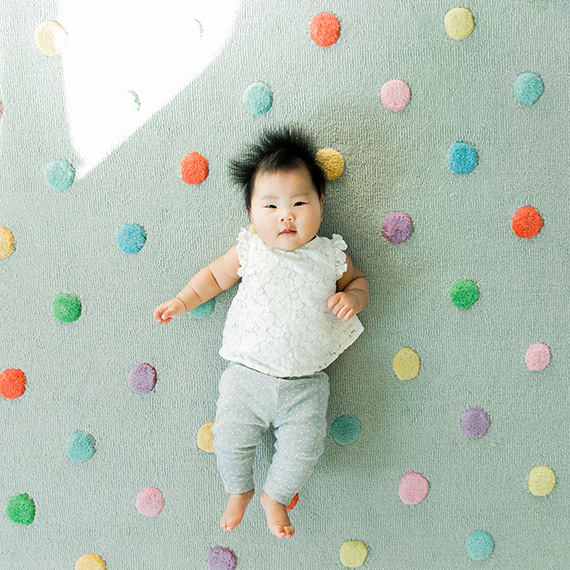 polka dot baby photo