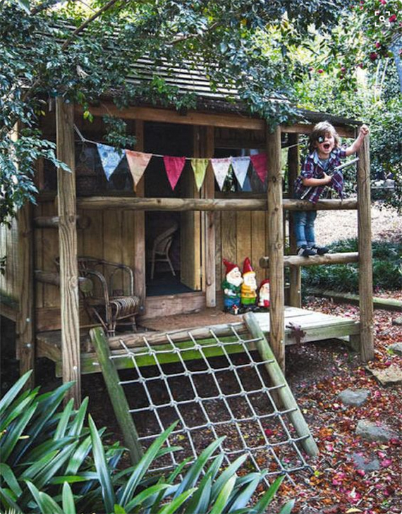 15 amazing diy backyard playhouses and treehouses How to build outdoor playhouse