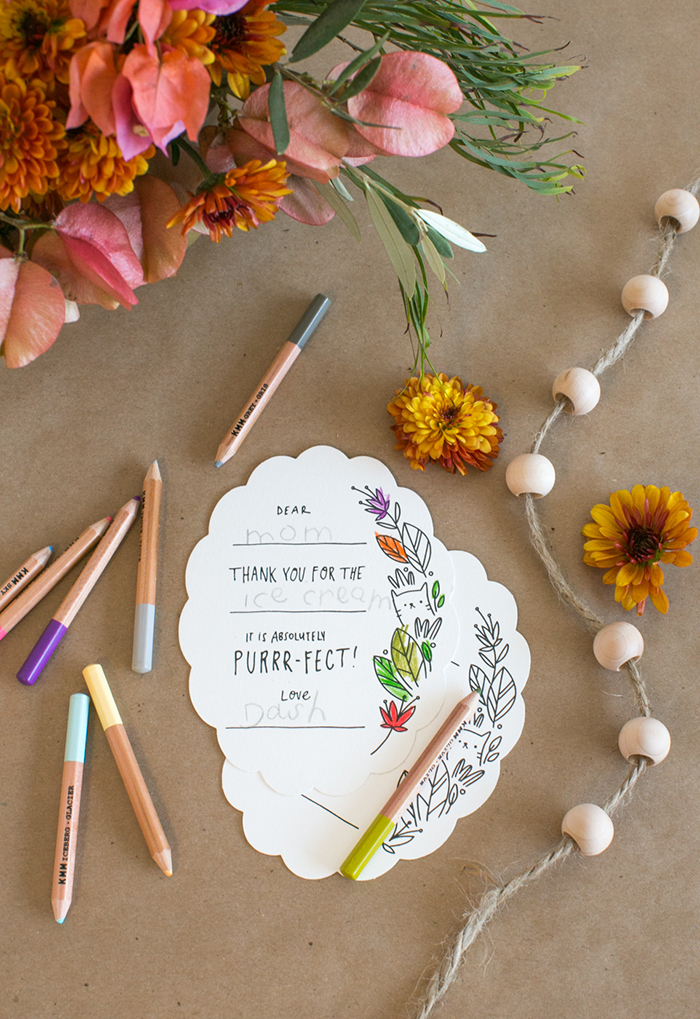 Minted's color-in Thank You cards