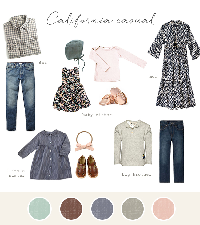 Family photo fashion ideas - California Casual