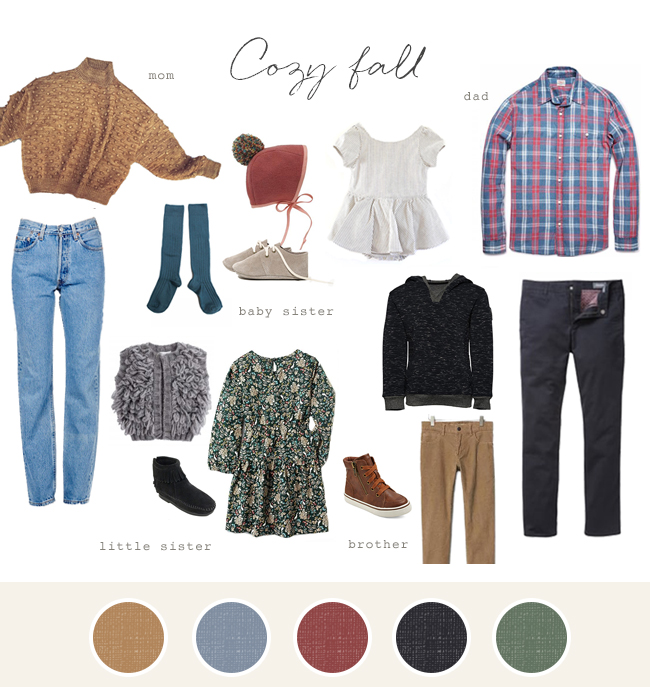 Family photo fashion ideas - Cozy fall
