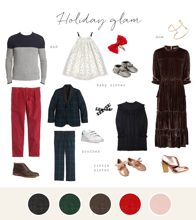 Family photo fashion ideas - Holiday Glam