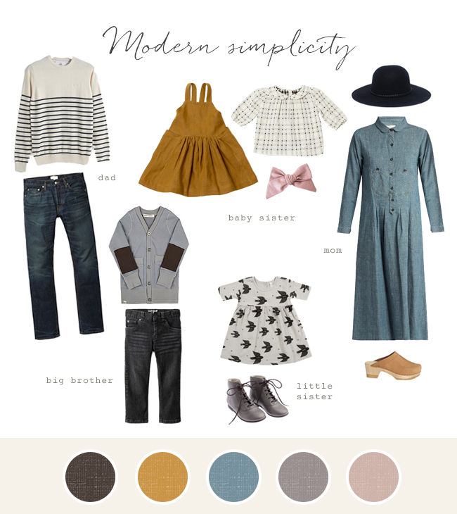 Family photo fashion ideas - Modern Simplicity