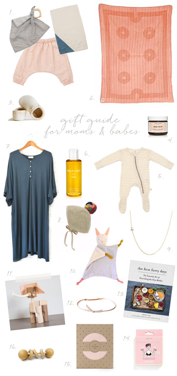 Gift guide for moms and babies on Cakelet