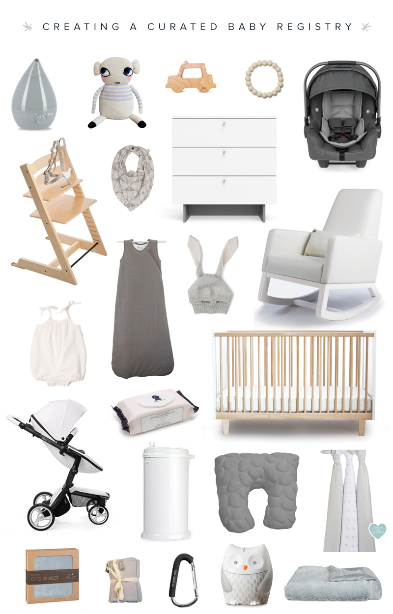 Neutral modern baby registry ideas