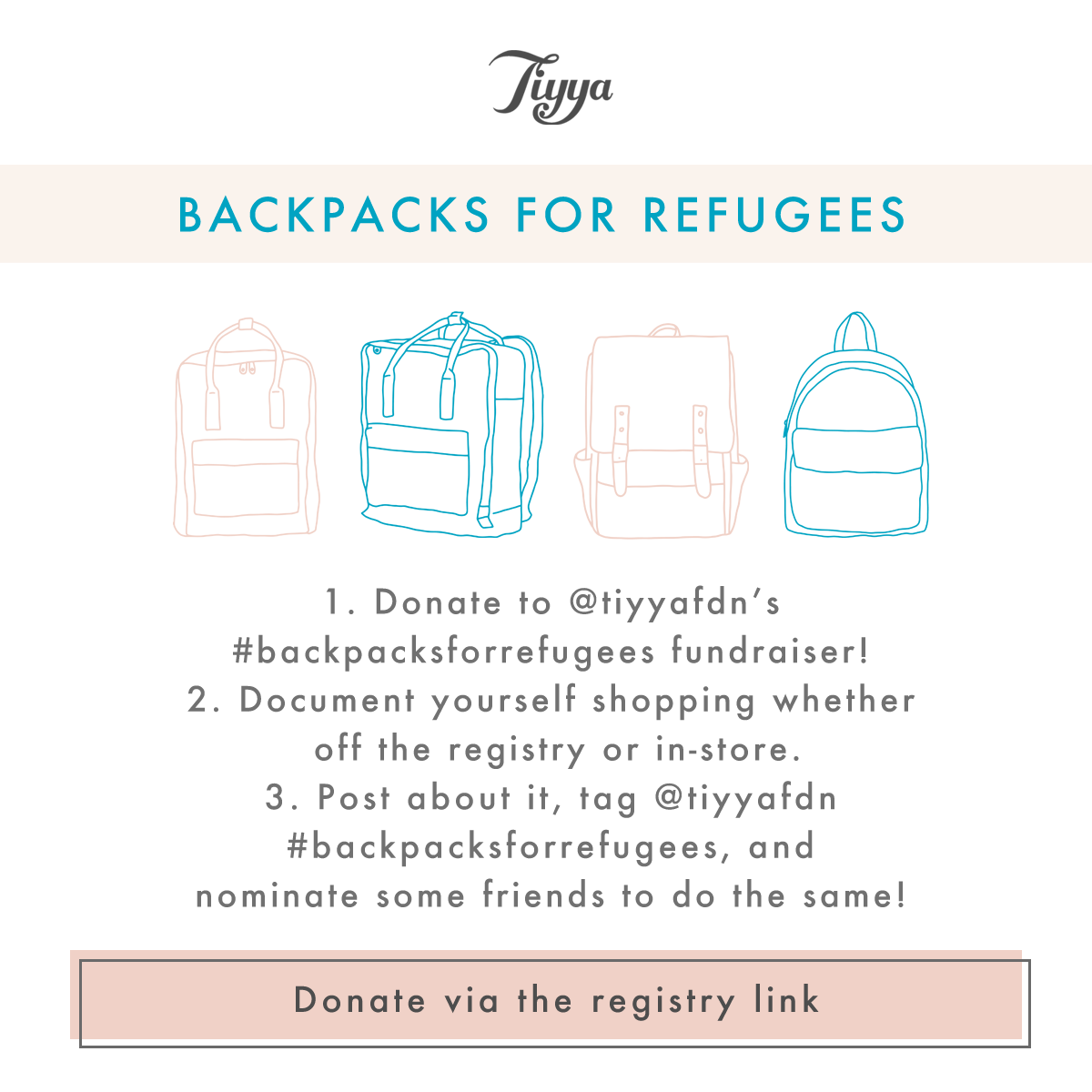 Backpacks for Refugees - 100 Layer Cakelet