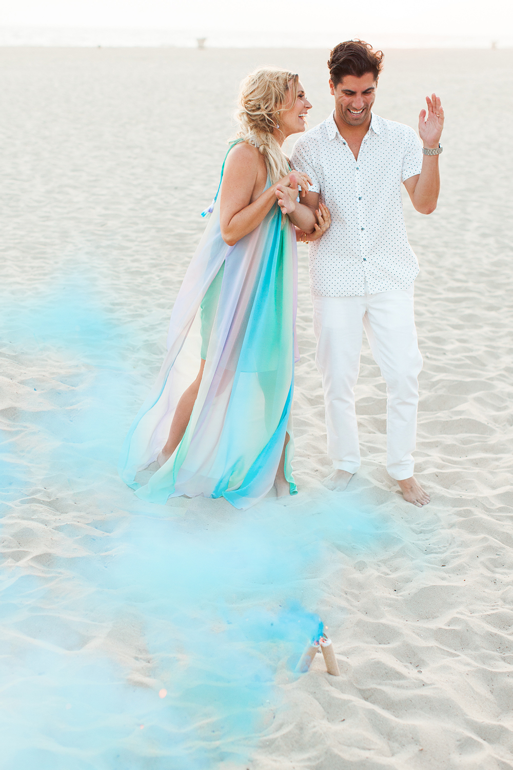 Beach boho gender reveal party | Summer party ideas | 100 Layer Cakelet