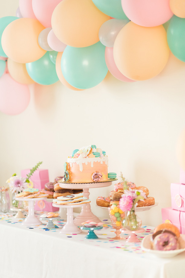 Pastel Donut Third Birthday Party