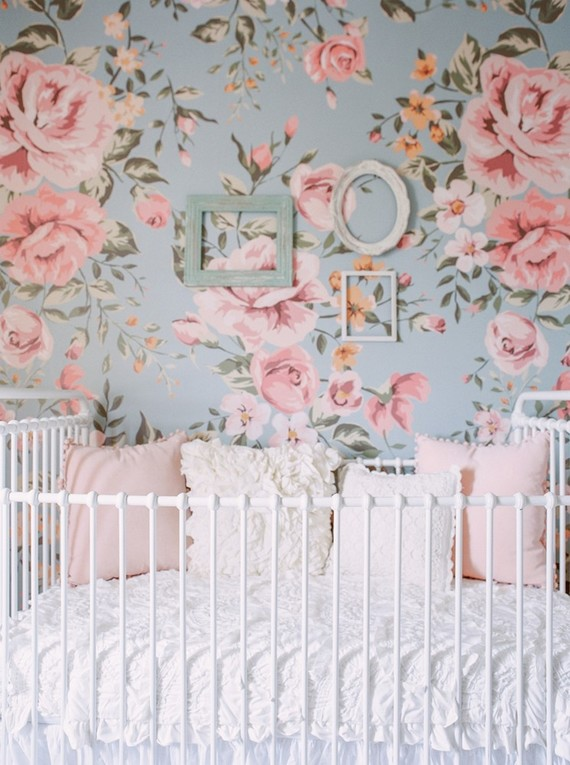 Best nursery design of the year on 100 Layer Cakelet : Floral Wallpaper