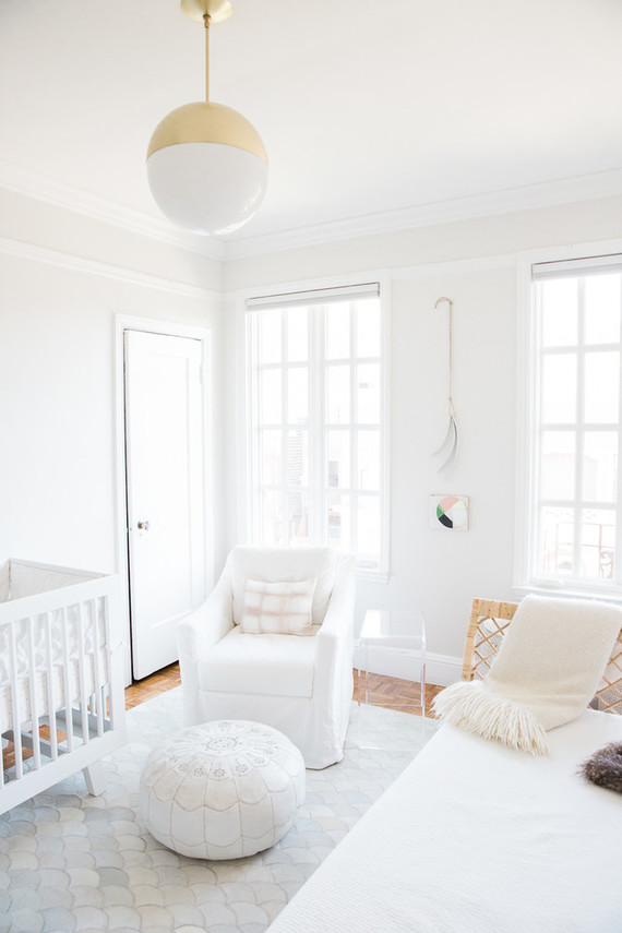 Best nursery design of the year on 100 Layer Cakelet: All white in San Francisco