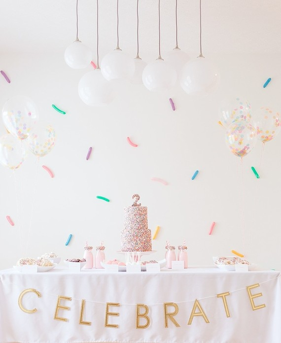 confetti birthday party | Best Birthday Ideas of 2017 on 100 Layer Cakelet