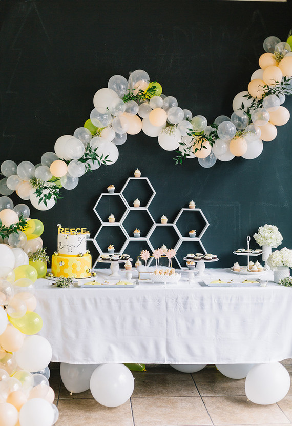 modern Bee-themed birthday party | Best Birthday Ideas of 2017 on 100 Layer Cakelet