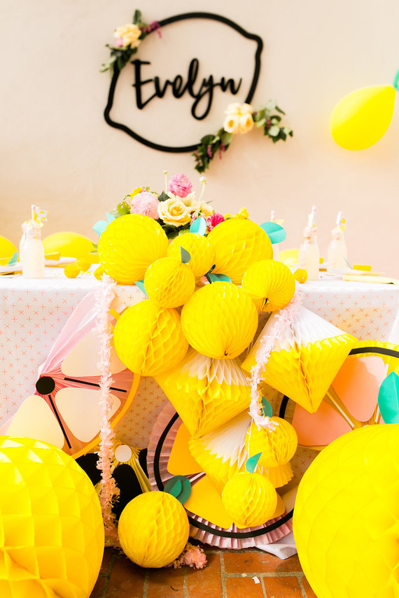 Lemonade themed birthday party | Best Birthday Ideas of 2017 on 100 Layer Cakelet